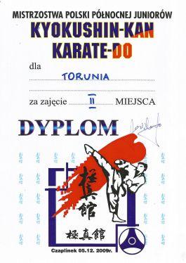 MPPółnocnej PFKK Czaplinek 05.12.2009 dyplom