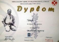 Jubileuszowy Turniej w Chełmnie 01.12.2012 dyplom
