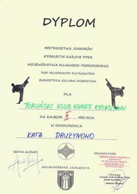 MWKP PFKK Golub-Dobrzyń 15.03.2014 dyplom kata