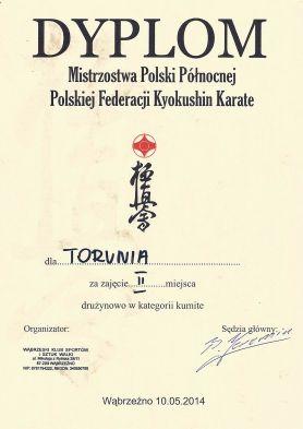 MPPółnocnej Wąbrzeźno 10.05.2014 dyplom kumite