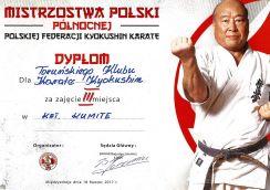 MPPółnocnej Międzyzdroje 18.03.2017 dyplom kumite