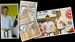 Krzysztof Jaruszewski zdał na czarny pas shodan – 1dan podczas XV edycji Obozu Letniego PFKK w Tucholi.